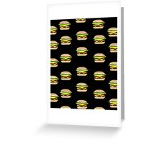 Pixel-Burger Greeting Card