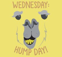 WEDNESDAY: hump day! with camel face One Piece - Short Sleeve