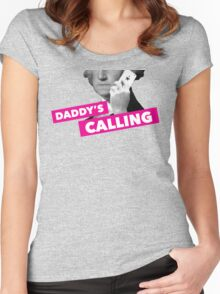 Hamilton - Daddy's Calling Women's Fitted Scoop T-Shirt