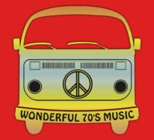 Wonderful 70's Music  decoration Clothing & Stickers by goodmusic