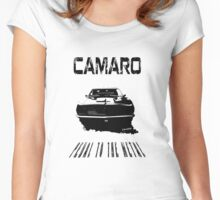CAMARO SS - PEDAL TO THE METAL Women's Fitted Scoop T-Shirt
