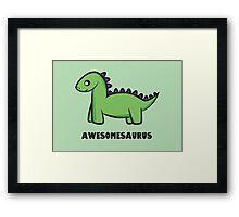 Awesomesaurus (green) Framed Print