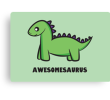 Awesomesaurus (green) Canvas Print