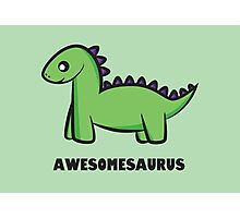 Awesomesaurus (green) Photographic Print