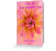 A Course In Miracles Card ACIM Greeting Card