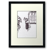 Choirboy and his Master Framed Print