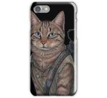Norman Reedus Cat  iPhone Case/Skin