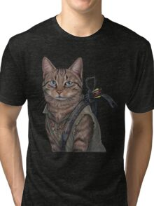 Norman Reedus Cat  Tri-blend T-Shirt