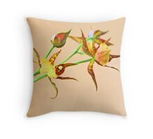 Orchid Stalk Throw Pillow