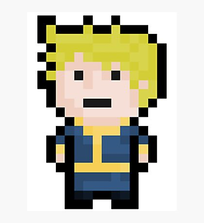 8-Bit Pixel Vault Boy Photographic Print