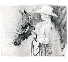 Youth Showmanship Quarter Horse Poster