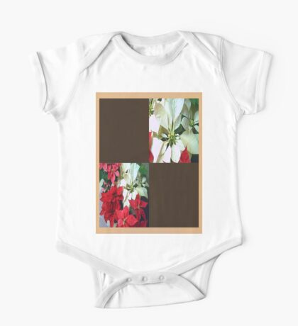 Mixed color Poinsettias 1 Blank Q3F0 One Piece - Short Sleeve