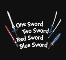 One Sword, Two Sword, Red Sword, Blue Sword Kids Clothes