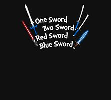 One Sword, Two Sword, Red Sword, Blue Sword T-Shirt