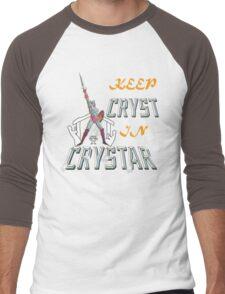 Keep CRYST In CRYSTAR Men's Baseball ¾ T-Shirt