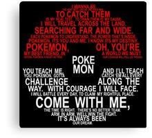 Pokemon Typhography Quotes Canvas Print