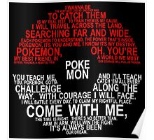 Pokemon Typhography Quotes Poster