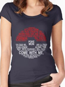 Pokemon Typhography Quotes Women's Fitted Scoop T-Shirt