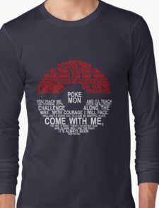 Pokemon Typhography Quotes Long Sleeve T-Shirt