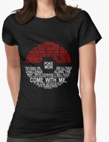Pokemon Typhography Quotes Womens Fitted T-Shirt