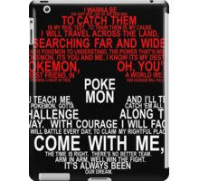 Pokemon Typhography Quotes iPad Case/Skin