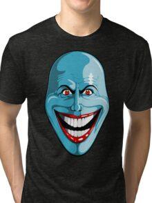 Smiley Blue Face Tri-blend T-Shirt