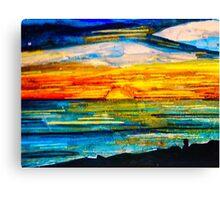 Sunset at the Beach. Canvas Print