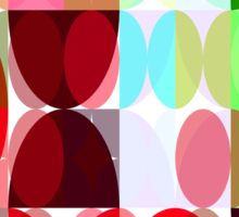 Mixed color Poinsettias 1 Abstract Circles 3 Sticker