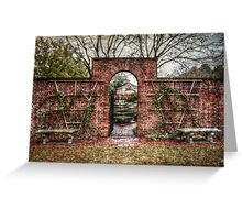 Into the Palace Garden Greeting Card