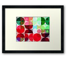 Mixed color Poinsettias 1 Abstract Circles 3 Framed Print