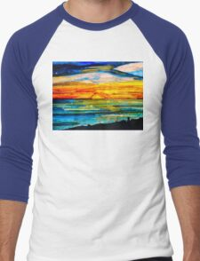 Sunset at the Beach. Men's Baseball ¾ T-Shirt