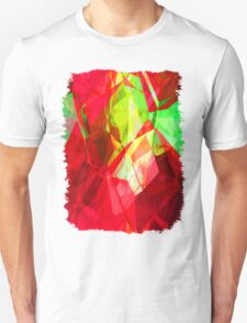 Mixed color Poinsettias 1 Abstract Polygons 1 T-Shirt