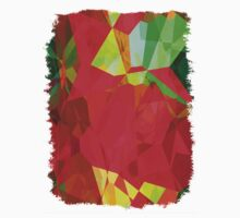 Mixed color Poinsettias 1 Abstract Polygons 2 Kids Tee