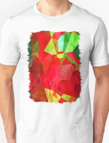 Mixed color Poinsettias 1 Abstract Polygons 2 T-Shirt