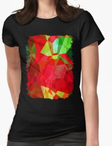 Mixed color Poinsettias 1 Abstract Polygons 2 Womens Fitted T-Shirt