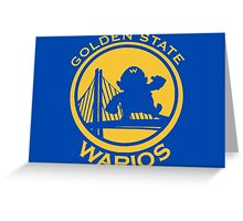 GOLDEN STATE WARIOS Greeting Card