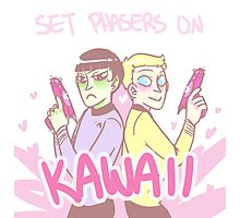 Set Phasers On Kawaii Photographic Print