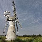 Thurne Dyke Mill and Boats by Avril Harris