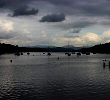 Dusk Windermere Lake District by liberthine01