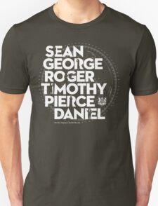 JAMES BOND ACTORS T-Shirt