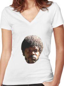 SamuelLAD Women's Fitted V-Neck T-Shirt