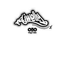 DJ Welly - Vinyl Rules Logo by raneman