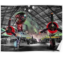 Boeing B17G Fortress - Hendon - HDR Poster