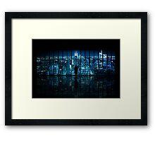 Window to Gotham City Framed Print