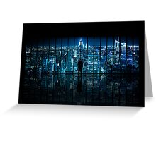 Window to Gotham City Greeting Card