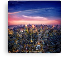 New York - Red Sky Canvas Print