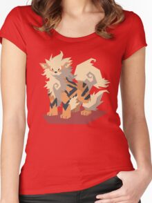 Cutout Arcanine Women's Fitted Scoop T-Shirt