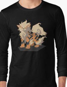 Cutout Arcanine Long Sleeve T-Shirt