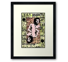 Sid Vicious. The Jack Of Spades. Framed Print