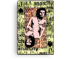 Sid Vicious. The Jack Of Spades. Canvas Print
